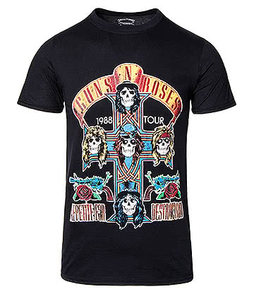 Official Guns N' Roses '88 NJ Summer Jam T Shirt (Black)