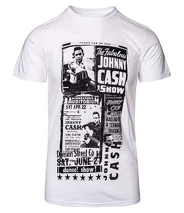 Official Johnny Cash Show T Shirt (White)