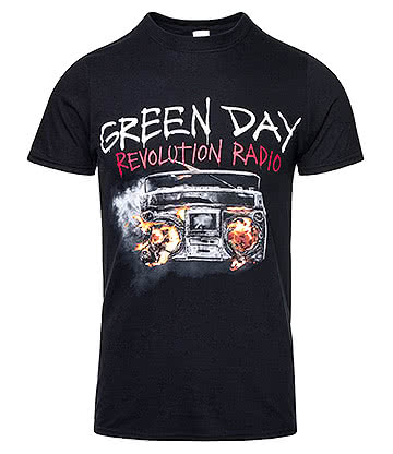 Official Green Day Revolution Radio T Shirt (Black)