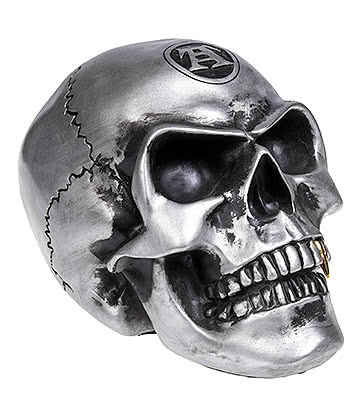 Alchemy Gothic Metalised Skull (Silver)