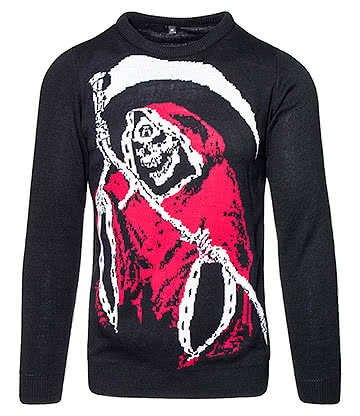 Alchemy Gothic Santa Reaper Jumper (Black/Red)