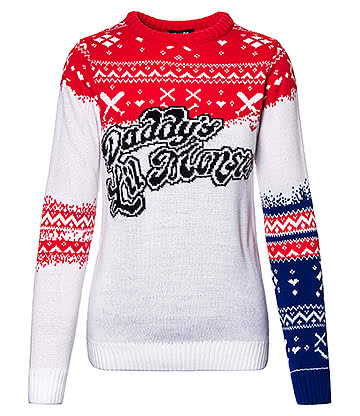 Suicide Squad Daddy's Lil Monster Christmas Jumper (Multicoloured)