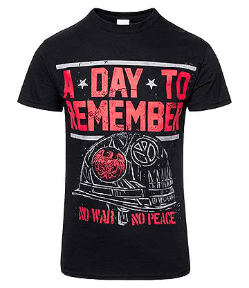 Official A Day To Remember No War T Shirt (Black)