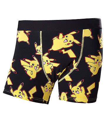 Pokemon Pikachu Boxers (Black/Yellow)
