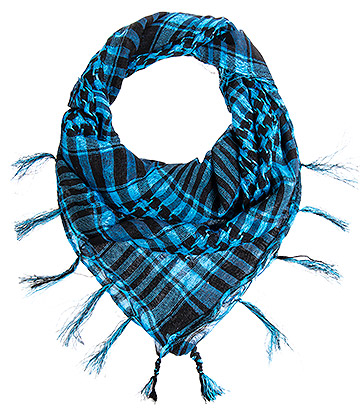 Blue Banana Checkered Scarf (Blue)