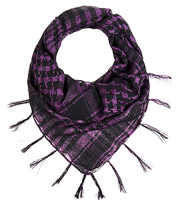 Blue Banana Checkered Scarf (Purple)