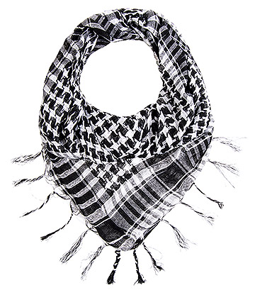 Blue Banana Checkered Scarf (White)
