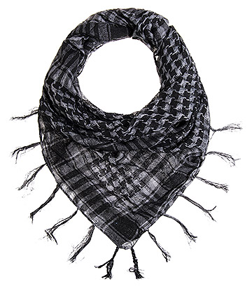 Blue Banana Checkered Scarf (Grey)