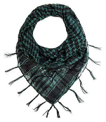 Blue Banana Checkered Scarf (Green)