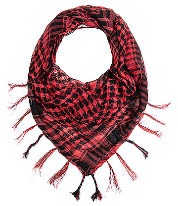 Blue Banana Checkered Scarf (Red)