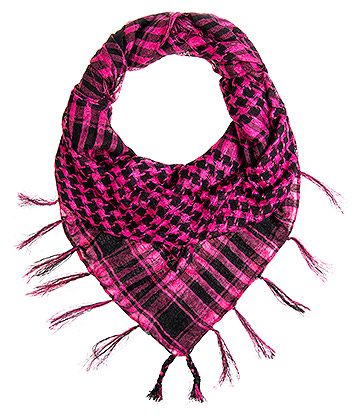 Blue Banana Checkered Scarf (Pink)