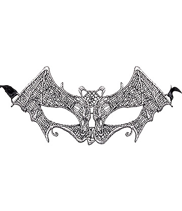 Blue Banana Bat Masquerade Mask (Silver)