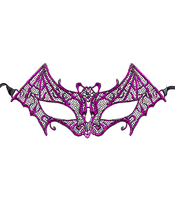Blue Banana Bat Masquerade Mask (Purple)