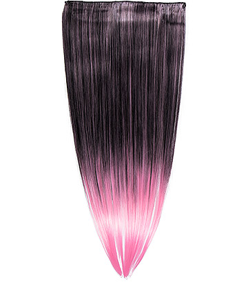 Blue Banana Clip In Hair Extension (Baby Pink)