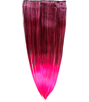 Blue Banana Clip In Hair Extension (Hot Pink)