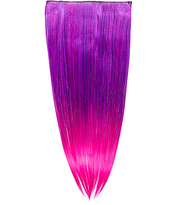 Blue Banana Clip In Hair Extension (Purple)