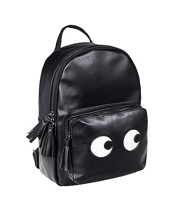 Blue Banana Eyes Mini Backpack (Black)