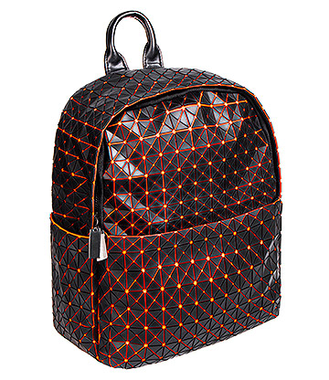 Blue Banana UV Squares Mini Backpack (Orange)