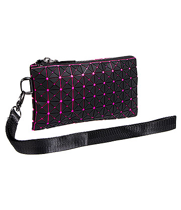 Blue Banana UV Squares Purse (Pink)