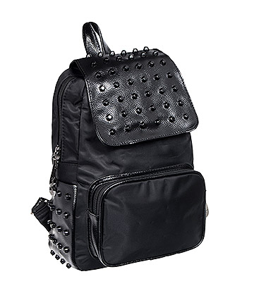 Blue Banana Small Studded Backpack (Black)