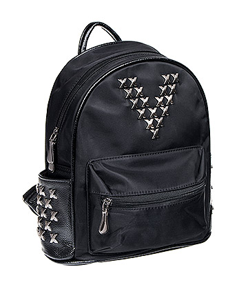 Blue Banana Studded V Backpack (Black)