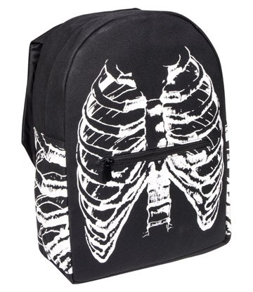 Blue Banana Hooded Rib Cage Backpack (Black)