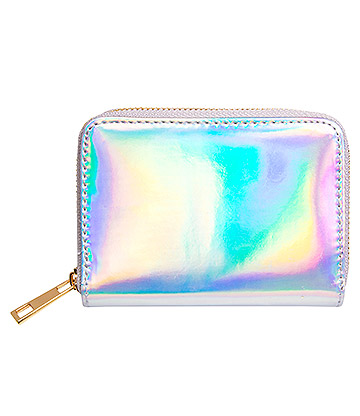 Blue Banana Hologram Purse (Silver)