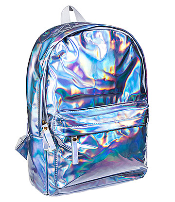 Blue Banana Holographic Backpack (Laser Silver)