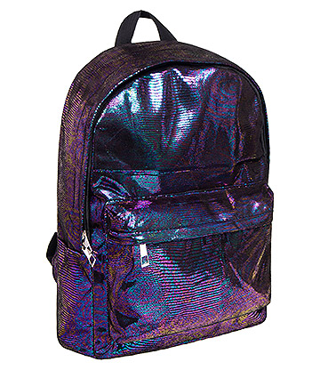 Bleeding Heart Metallic Snake Backpack (Purple)