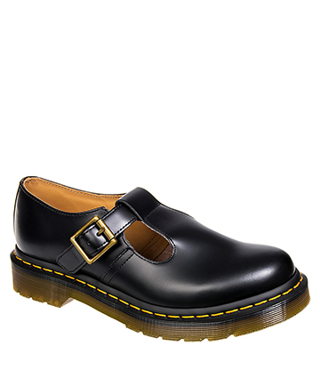 Dr Martens Polley Mary Jane Smooth Shoes (Black)