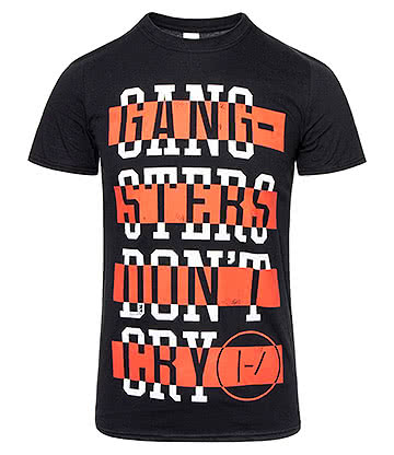 Official Twenty One Pilots Gangster T Shirt (Black)