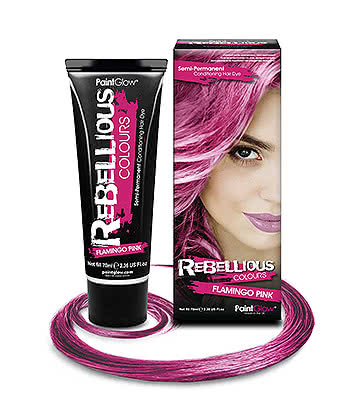 Paintglow Rebellious Colours Semi-Permanent Hair Dye 70ml (Flamingo Pink)