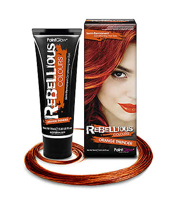 Paintglow Rebellious Colours Semi-Permanent Hair Dye 70ml (Orange Thunder)