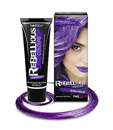 Paintglow Rebellious Colours Semi-Permanent Hair Dye 70ml (Ultra Violet)