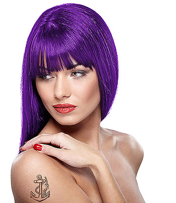 Paintglow Rebellious Colours Semi-Permanent Hair Dye 70ml (Purple Fury)