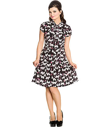 Hell Bunny Aggy Dress (Black/White)
