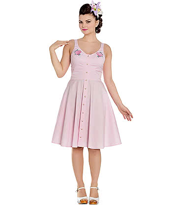 Hell Bunny Lorelei Dress (Pink)