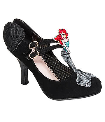 Banned Stella By Starlight T-Bar High Heeled Shoes (Black)