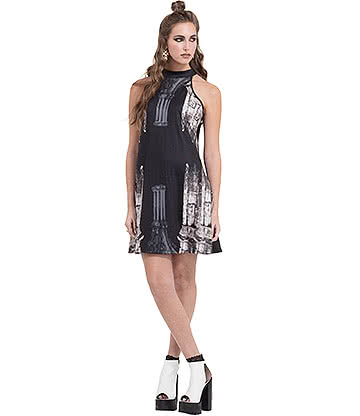 Jawbreaker Church Column Dress (Black)