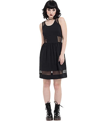 Jawbreaker Nasty Net Skater Dress (Black)