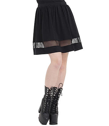 Jawbreaker Nasty Net Skirt (Black)