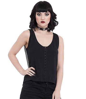 Jawbreaker Nasty Net Vest Top (Black)