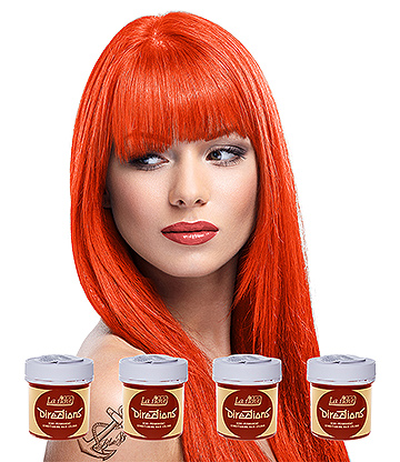 La Riche Directions Colour Hair Dye 4 Pack 88ml (Tangerine)