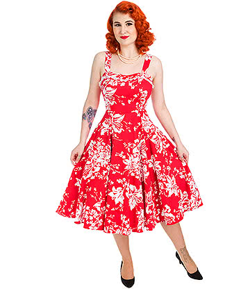 H&R Regal Lily Dress (Red/White)
