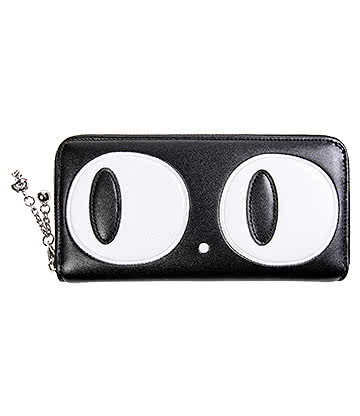 Banned Cat Eyes Wallet (Black)