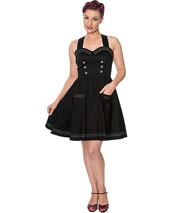 Banned Where To Next Mini 50s Dress (Black)