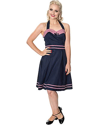 Banned J'Adore Dress (Navy Blue)