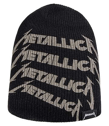 Official Metallica Repeat Logo Beanie (Black)