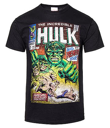 The Incredible Hulk Comic Book T Shirt (Black)