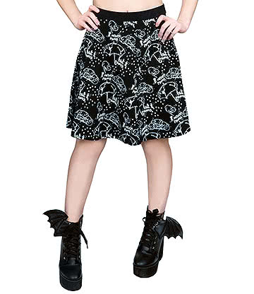 Fearless Illustration Pathetic Fallacy Skirt (Black)